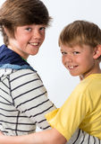 Two Young Brothers Royalty Free Stock Photos