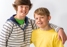 Two Young Brothers Stock Images