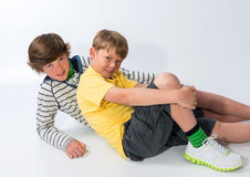 Two Young Brothers Stock Photo