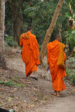 Two young Buddhist monk Stock Photos