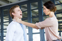 Two young business colleagues having an argument Royalty Free Stock Images