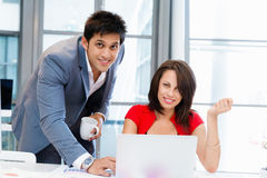Two young business collegue in office Royalty Free Stock Photography