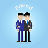 Two young business man embracing friend concept Royalty Free Stock Photography