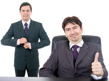 Two young business men. Isolated on white background Royalty Free Stock Images