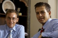 Two young business men Royalty Free Stock Image