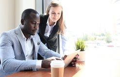 Two young business partners Royalty Free Stock Photography
