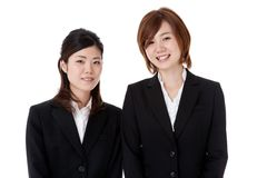 Two young business people Stock Photos