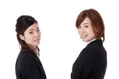 Two young business people Royalty Free Stock Images