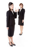 Two young business people Stock Photo