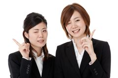 Two young business people Stock Photography