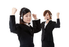 Two young business people Stock Images