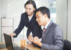 Two young Business People Royalty Free Stock Photo