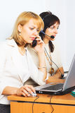 Two Young business woman Stock Photo