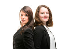 Two young business women in full li Stock Photo