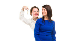Two young business women in full li Stock Image