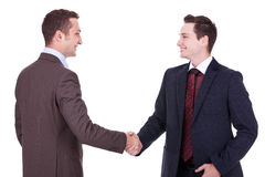 Two young businessman handshake Royalty Free Stock Photo
