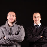 Two young businessman Stock Photo