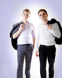 Two young businessman posing. Stock Photography