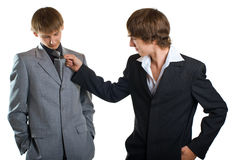 Two young businessmen Stock Photography
