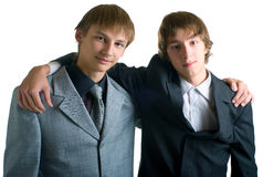 Two young businessmen royalty free stock image