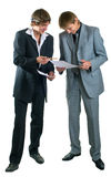 Two young businessmen Royalty Free Stock Photo