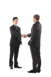 Two young businessmen in formal clothes Royalty Free Stock Images
