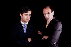 Two young businessmen with a serious look Stock Photo
