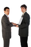 Two young businessmen working 1 Royalty Free Stock Image