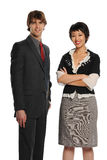 Two Young Businesspeople Royalty Free Stock Photos