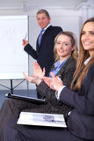 Two young businesswoman clapp their hands Stock Photography
