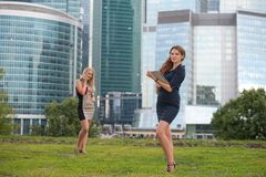 Two young businesswoman Royalty Free Stock Photo