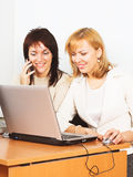Two young businesswomen Stock Images