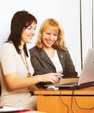 Two young businesswomen Royalty Free Stock Photo