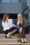 Two young businesswomen 6 royalty free stock photo