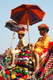 Two young cameleers at camel mela in Pushkar,India stock photos