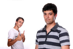 Two Young casual man Royalty Free Stock Photos