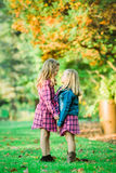 Two Young Caucasian Sisters royalty free stock photography