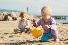 Two young children Royalty Free Stock Photography