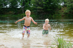 Kids Swimming In A Lake kids swimming pond stock photos, images, & pictures - 207 images
