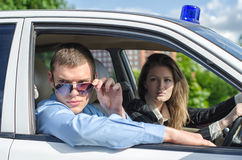 Two young detectives Royalty Free Stock Photos