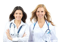 Two young doctor or nurse internship Royalty Free Stock Image