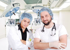 Two young doctors in  room Stock Photo