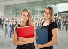 Two young employees Stock Photography