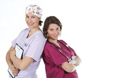 Two young female doctors Royalty Free Stock Photo