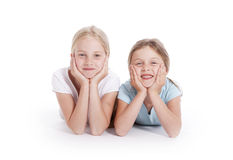 Two young female friends Stock Photography