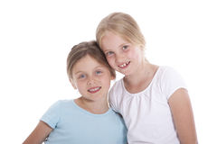 Two young female friends Stock Photo