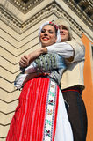 Two young folk dancers from Belgrade Royalty Free Stock Photography