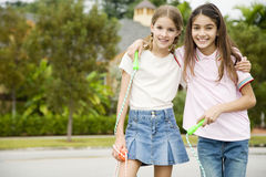 Two young friends Royalty Free Stock Photo