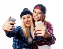 Two young funny women Stock Photography