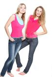 Two young gappy girls Royalty Free Stock Photography